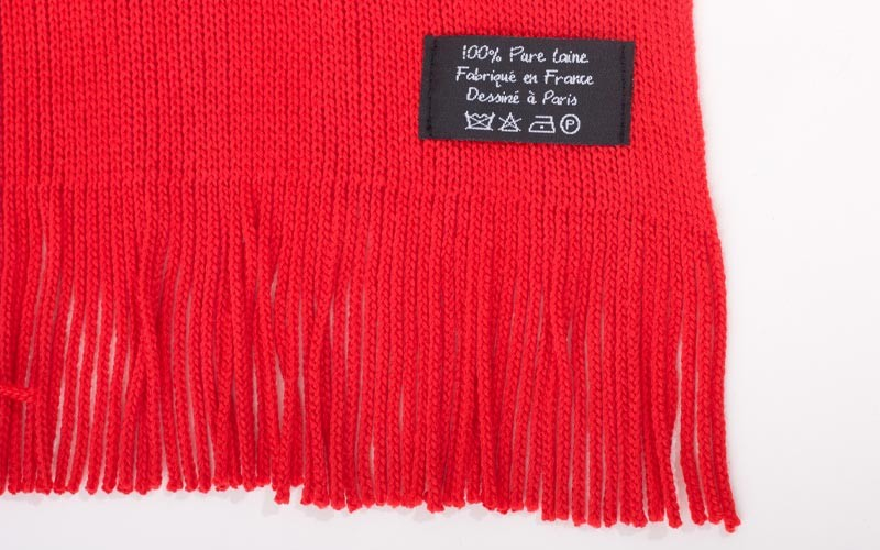 ... e1838efcd32452 Echarpe rouge - Made in France - 100% Laine - Bloody  Mary ... 3cca3ad508d