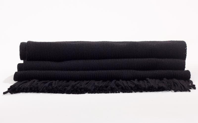 comment acheter 100% de haute qualité personnalisé Echarpe noire - Made in France - 100% Laine - Black Jack